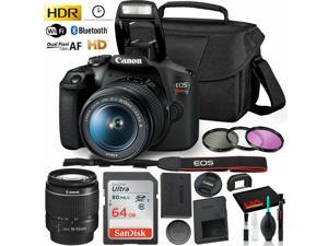 Canon Rebel 800d T7 Camera 50mm 75-300 EXT Bat - 64gb Kit 2yr