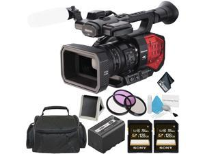 Panasonic AG-DVX200 4K Handheld Camcorder - Bundle with 2X 128GB Memory Cards + Carrying Case + More