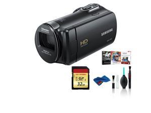 Samsung HMX-F90 Camcorder Black Bundle with 32 GB Memory Card