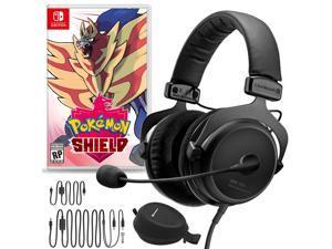 Beyerdynamic MMX 300 Premium Gaming Headset (2nd Gen) Bundle with Pokemon Shield for Nintendo Switch