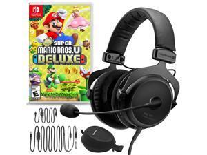 Beyerdynamic MMX 300 Premium Gaming Headset (2nd Gen) Bundle with New Super Mario Bros. U Deluxe for Nintendo Switch