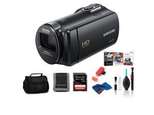 Samsung HMX-F90 Camcorder Black Bundle with 64 GB Memory Card + Corel  Kit