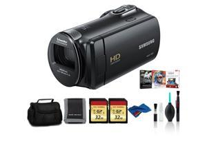 Samsung HMX-F90 Camcorder Black Bundle with 2x32 GB Memory Card