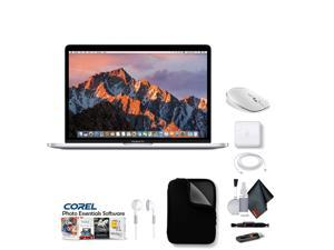 """Apple 13"""" MacBook Pro, Retina Display, 2.3GHz Intel Core i5 Dual Core, 8GB RAM, 128GB SSD, Silver, With Case, Corel Software, Mouse, Ear buds and Extended Warranty"""