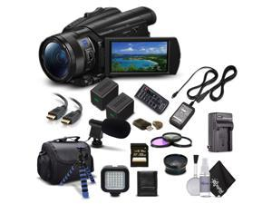 Sony Handycam FDR-AX700 4K HD Video Camera Camcorder + Extra Battery and Charger + 3 Piece Filter Kit + Wide Angle Lens