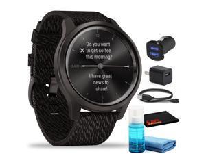 Garmin vivomove Style Hybrid Smartwatch (42mm) Graphite Aluminum with Adapters