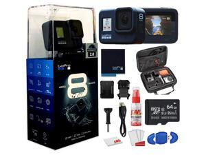 GoPro HERO8 Black Digital Action Camera - Waterproof, Touch Screen, 4K UHD Video, 12MP Photos Live Streaming, Stabilization - With Cleaning Set + Case + 64GB Memory Card and More.