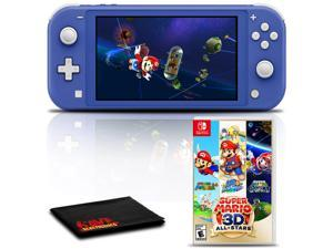 Nintendo Switch Lite (Blue) Gaming Console Bundle with Super Mario 3D All-Stars