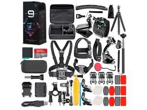 GoPro HERO9 Black with 32GB Card & 50 Piece Accessory Kit - Loaded Bundle