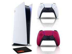 PlayStation 5 Digital Console with Controller Cosmic Red and Cleaning Cloth