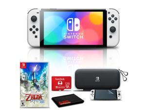 Nintendo Switch OLED White with Zelda Skyward Sword HD, 128GB Card, and More