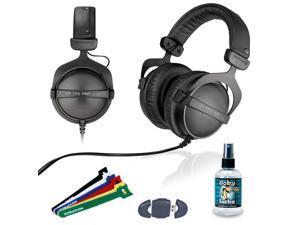 "Beyerdynamic DT 770 PRO 32 Ohm Studio Headphone - 6"" Velcro Straps - Card Reader - Headphone Cleaner 4oz"