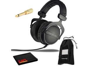 Beyerdynamic DT 770 Pro 32 ohm Professional Studio Headphones with Soft Case and Cleaning Cloth