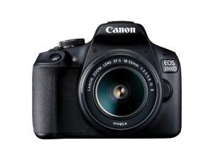 Canon EOS 2000D (Rebel T7) DSLR Camera + 18-55mm III Kit (Intl Model)