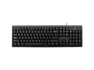 V7 KU200US USB Multimedia Keyboard PS2 Adapter with English Layout US