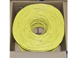 Premiertek CAT6-CCA-1KFT-Y 1000ft. CAT6 Yellow UTP 23AWG CCA Network Cable 4PR
