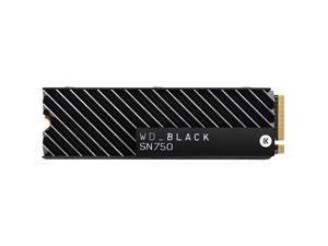 WD WDS100T3XHC Black SN750 WDS100T3XHC 1 TB Solid State Drive with Heatsink - PCI Express (PCI Express 3.0 x4) - 600 TB (TBW) - Internal - M.2 2280