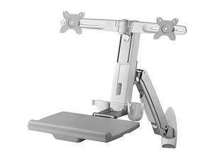 """Amer Mounts AMR2AWS   Dual Combo Articulating Workstation Wall Mounts   Supports 24"""" LCD per Arm"""