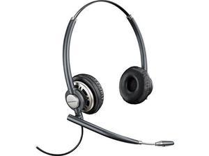 Plantronics HW720 Binaural Headset - Stereo - Wired - Over-the-head - Binaural - Circumaural - Noise Cancelling Microphone - Black
