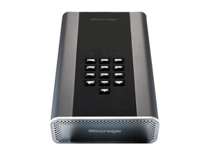 iStorage diskAshur DT2 14TB Secure encrypted desktop hard drive - FIPS Level 2 certified, Password protected, military grade hardware encryption IS-DT2-256-14000-C-G