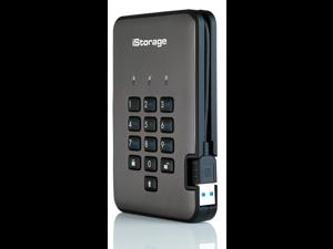 iStorage diskAshur PRO2 256-bit 1TB FIPS 140-2 Level 3 Certified Hardware Encrypted Portable Hard Drive USB 3.1 AES-XTS 256-bit – Classified - Graphite (IS-DAP2-256-1000-C-X)