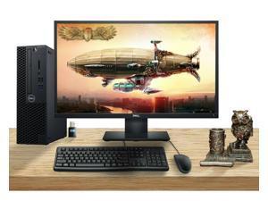 Dell OptiPlex 3070 SFF Desktop Bundle with Steampunk Owl Pen Holder, Monitor, Keyboard, Mouse, WiFi, Intel i5-9500 CPU, 16GB RAM, 500GB SSD, Windows 10 Pro
