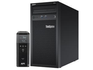 Lenovo ThinkSystem ST50 Tower Server Bundle with APC BR1500MS 1500VA UPS, Intel Xeon 3.4GHz CPU, 32GB DDR4 2666MHz RAM, 6TB HDD Storage, JBOD RAID