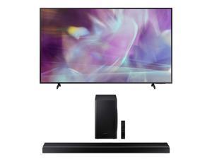 "Samsung QN75Q60AA 75"" QLED Q60 Series 4K Smart TV Titan Gray with a Samsung HW-Q60T Wireless 5.1 Channel Soundbar and Bluetooth Subwoofer (2021)"