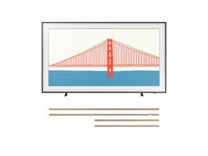 "Samsung QN75LS03AA 75"" LS03AA Series UHD LED 4K Smart TV with a Samsung VG-SCFA75TKB 75"" The Frame Customizable Bezel - Modern Teak (2021)"