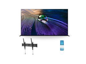 """Sony XR83A90J 83"""" A90J Series HDR OLED 4K Smart TV with a Walts TV Large/Extra Large Tilt Mount for 43""""-90"""" Compatible TV's and a Walts HDTV Screen Cleaner Kit (2021)"""