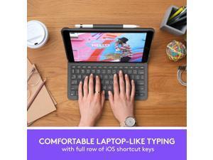 Logitech Slim Folio Keyboard/Cover Case (Folio) Apple, Logitech iPad Air (3rd Generation 2019) & iPad Pro 10.5 inch (2017) - Graphite (920-009482)