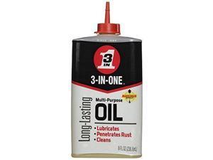 3-in-one Mineral,  Machine Oil,  8 oz.,  Drip Bottle Amber   10138