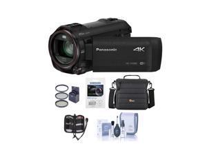Panasonic HC-VX981K 4K UHD Camcorder with 4K Photo Wi-Fi w/Free Accessory Bundle