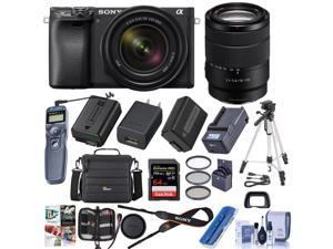Sony Alpha a6400 Mirrorless Camera with 18-135mmf/3.5-5.6 OS Lens W/Accesory Kit