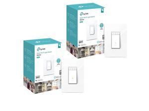TP-Link 2 Pack HS220 Kasa Smart Wi-Fi Dimmer Light Switch #HS220 2