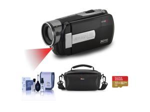 """Minolta MN80NV 1080p Full HD 3"""" TS Camcorder with Nightvision,Black W/ACC KIT"""