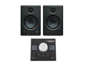 PreSonus Eris E4.5 Studio Monitors With Mackie Big Knob 2x2 Controller #ERISE45D
