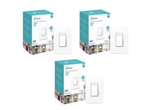 TP-Link 3 Pack HS220 Kasa Smart Wi-Fi Dimmer Light Switch #HS220 3