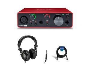 Focusrite Scarlett Solo 3rd Gen - Studio Monitor Headphones - XLR Cable