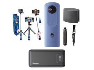 Ricoh Theta THETA SC2 4K 360 Spherical Camera, Blue - With Accessory Bundle