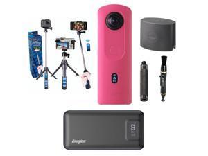 Ricoh Theta THETA SC2 4K 360 Spherical Camera, Pink - With Accessory Bundle