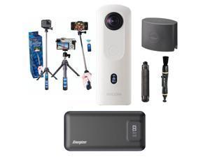 Ricoh Theta THETA SC2 4K 360 Spherical Camera, White - With Accessory Bundle
