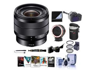 Sony 10-18 F/4 OSS E-Mount Lens - with Premium Accessory Bundle #SEL1018 KB
