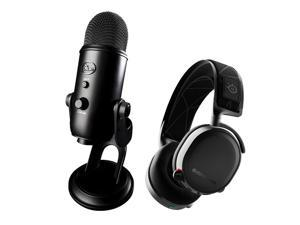Blue Microphones Yeti USB Mic (Black) with SteelSeries Arctis 7 Lossless Headset