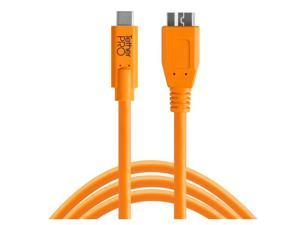 Tether Tools TetherPro USB-C to 3.0 Micro-B Cable, 15', Orange #CUC3315-ORG