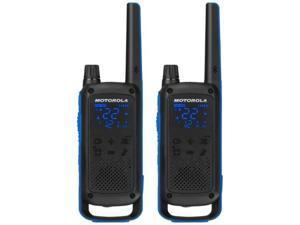 Motorola T800 Two-Way Radio - 56KM Bluetooth Model, 2 Pack, Black/Blue