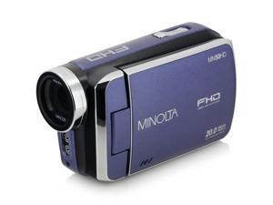 Minolta MN50HD 1080p Full HD 20MP Digital Camcorder, Blue #MN50HD-BL