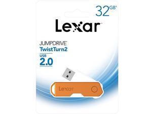 Lexar 32GB JumpDrive TwistTurn2 2.0 USB Flash Drive, Orange #LJDTT2-32GABNAOG