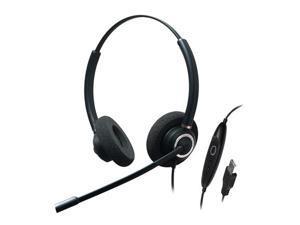 ADDASOUND ADD-CRYSTAL-SR2832RG Dual Ear, Stereo, Adv Noise Cancel USB