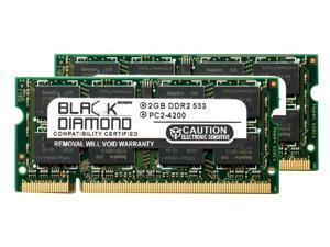 4GB 2X2GB RAM Memory for Sony VAIO VGN-N Series VGN-N11M/W Black Diamond Memory Module DDR2 SO-DIMM 200pin PC2-4200 533MHz Upgrade